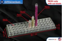 Plastic tube small 63x14mm, 1pc TB201